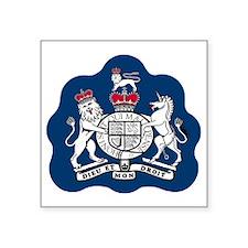 "RAF-Warrant-Officer-Bonnie. Square Sticker 3"" x 3"""