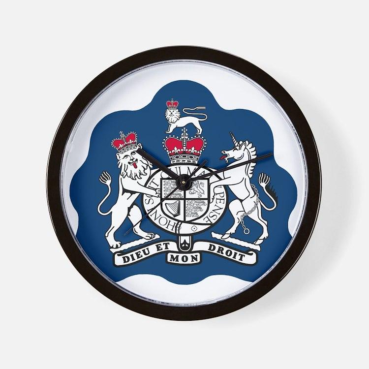 3-RAF-Warrant-Officer-Black-Shirt Wall Clock