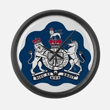 3-RAF-Warrant-Officer-Black-Shirt Large Wall Clock