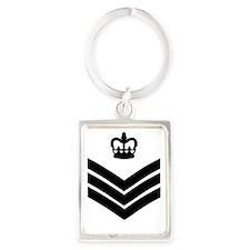 RAF-Flight-Sergeant-Messenger.gi Portrait Keychain