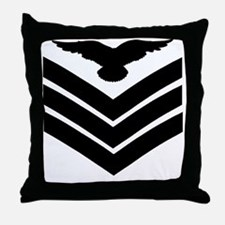 RAF-Sergeant-Aircrew-Green-Shirt Throw Pillow