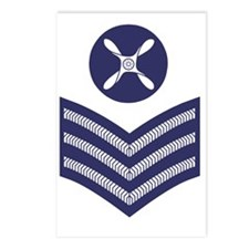 RAF-Chief-Technician-Blue Postcards (Package of 8)