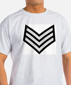 British-Army-Sergeant-Silver-Black.g T-Shirt