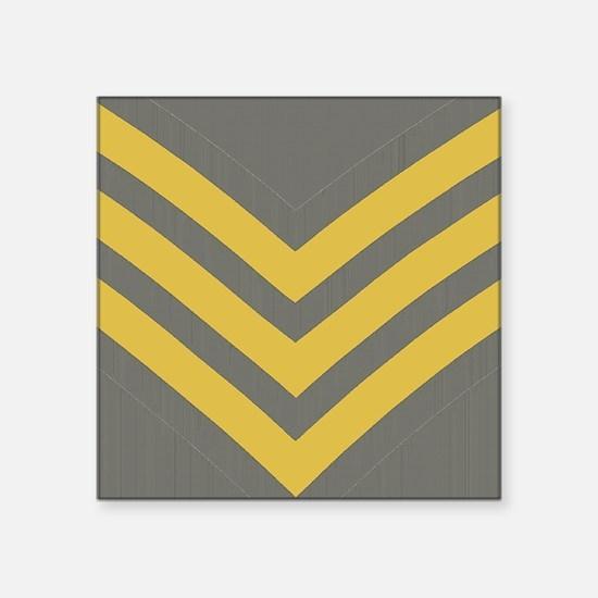 "Royal-Marines-Sergeant-Jour Square Sticker 3"" x 3"""