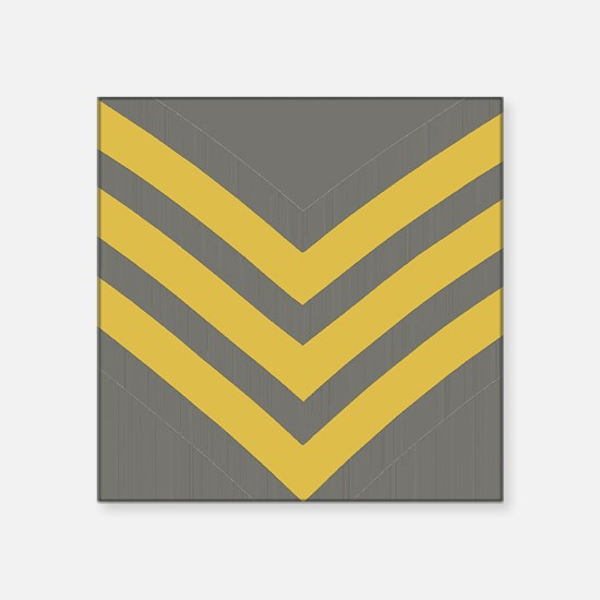 "Royal-Marines-Sergeant-Tile Square Sticker 3"" x 3"""