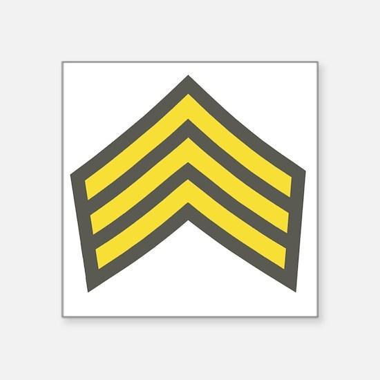"Royal-Marines-Provost-Serge Square Sticker 3"" x 3"""