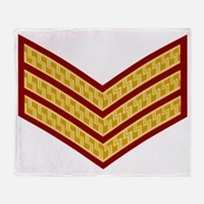 British-Army-Sergeant-Gold-Maroon-Be Throw Blanket