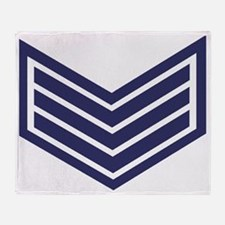 British-Army-Sergeant-Blue-Silver-Ca Throw Blanket