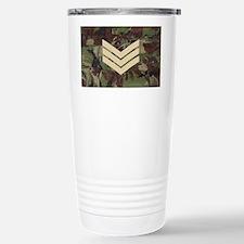 British-Army-Sergeant-Black-Cap Stainless Steel Tr