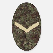 British-Army-Lance-Corporal-Journal Sticker (Oval)