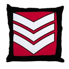 British-Army-Guards-Lance-Sergeant-Mo Throw Pillow
