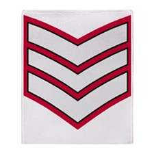 British-Army-Guards-Lance-Sergeant-B Throw Blanket