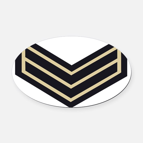 British-Army-Guards-Lance-Corporal Oval Car Magnet
