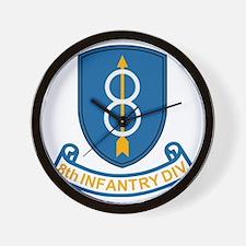 Army-8th-Infantry-Div-3-Bonnie.gif Wall Clock