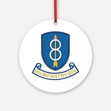 Army-8th-Infantry-Div-3-Bonnie.gif Round Ornament