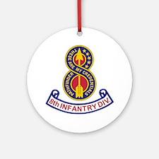 3-Army-8th-Infantry-Div-5-Bonnie.gi Round Ornament