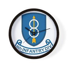 3-Army-8th-Infantry-Div-3-Bonnie.gif Wall Clock