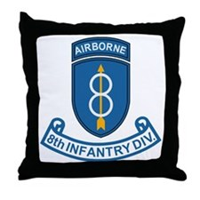 Army-8th-Infantry-Div-7-Bonnie.gif Throw Pillow