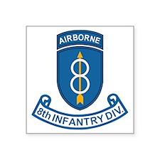 "Army-8th-Infantry-Div-7-Bon Square Sticker 3"" x 3"""
