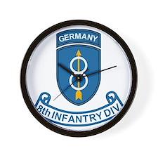 Army-8th-Infantry-Div-6-Bonnie.gif Wall Clock