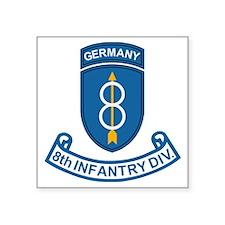 "Army-8th-Infantry-Div-6-Bon Square Sticker 3"" x 3"""
