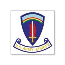"Army-US-Army-Europe-2-Bonni Square Sticker 3"" x 3"""