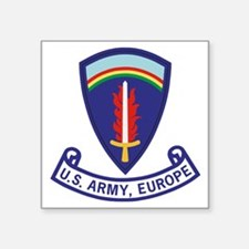 "3-Army-US-Army-Europe-2-Bon Square Sticker 3"" x 3"""