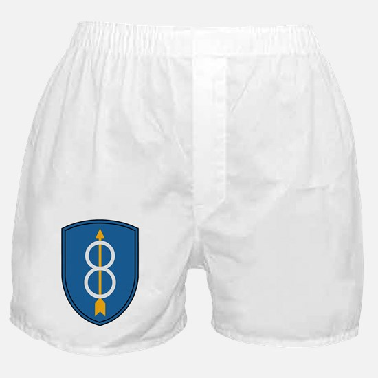 Army-8th-Infantry-Div-Dark Boxer Shorts