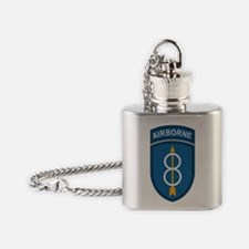 Army-8th-Infantry-Div-Dark-3 Flask Necklace