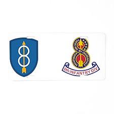 Army-8th-Infantry-Div-Mug.g Aluminum License Plate