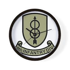 Army-8th-Infantry-Div-11-Bonnie.gif Wall Clock