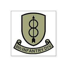 "Army-8th-Infantry-Div-11-Bo Square Sticker 3"" x 3"""