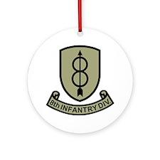 Army-8th-Infantry-Div-11-Bonnie.gif Round Ornament