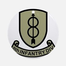 Army-8th-Infantry-Div-11-Bonnie.gif Round Ornament