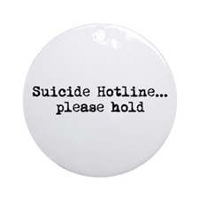 Suicide Hotline Ornament (Round)