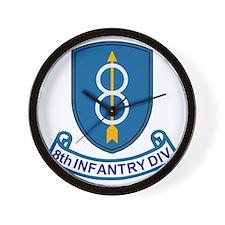 Army-8th-Infantry-Div-13-Bonnie.gif Wall Clock