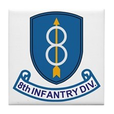 Army-8th-Infantry-Div-13-Bonnie.gif Tile Coaster