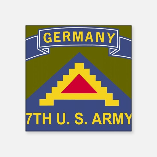 "Army-7th-Army-Journal.gif Square Sticker 3"" x 3"""