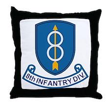 Army-8th-Infantry-Div-13-Bonnie.gif Throw Pillow