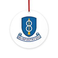 Army-8th-Infantry-Div-13-Bonnie.gif Round Ornament