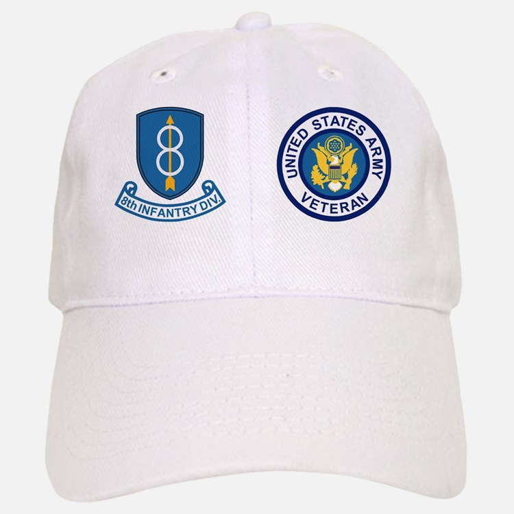 3-Army-8th-Infantry-Div-Veteran-Mug.gif Baseball Baseball Cap