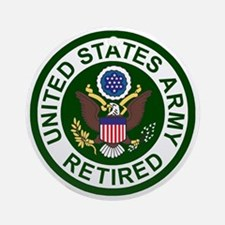 3-Army-Retired-For-Stripes-2.gif Round Ornament