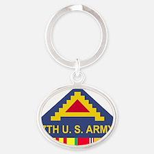 Army-7th-Army-Vietnam.gif Oval Keychain
