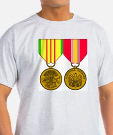 Military-Medal-Vietnam-And-National- T-Shirt