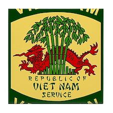 Military-Patch-Vietnam-Veteran-Bonnie Tile Coaster