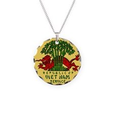 Military-Patch-Vietnam-Veter Necklace Circle Charm