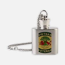 Military-Patch-Vietnam-Veteran-Bonn Flask Necklace