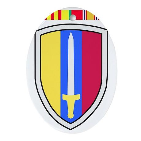 Army-USArmy-Republic-Vietnam-USARV-4 Oval Ornament