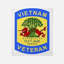 Military-Patch-Vietnam-Veteran-Bonni Throw Blanket