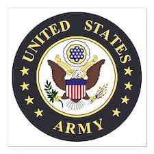 "Army-Emblem-3X-Blue.gif Square Car Magnet 3"" x 3"""